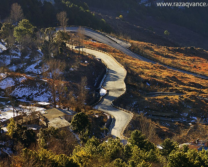 A WINTER MORNING IN MUREE HILLAS OF PAKISTAN