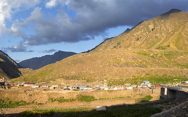 EVENING LIGHT ON THE MOUNTAINS IN BATAKUNDI NARAN VALLEY PAKISTAN