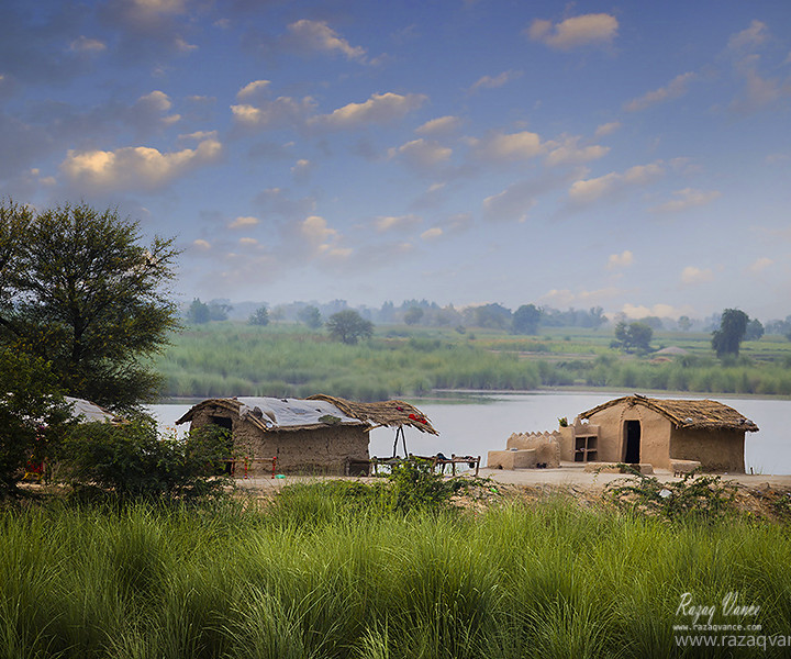 Village Life Beauty with Cultural Depth on River Bank