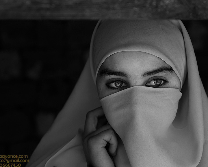 HOPE IN THE EYES AND INNOCENT BEAUTY OF A KASHMIR FACE