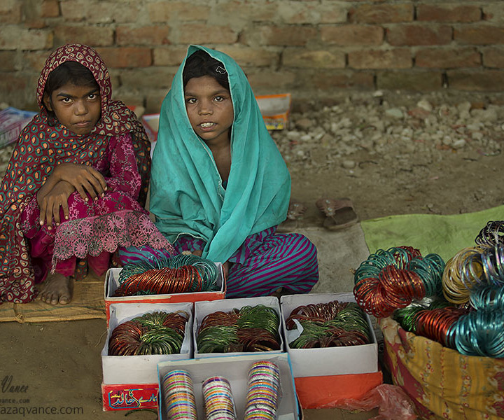 Bangle Seller Girls in a Village Festival and Colors Of Pakistani Culture