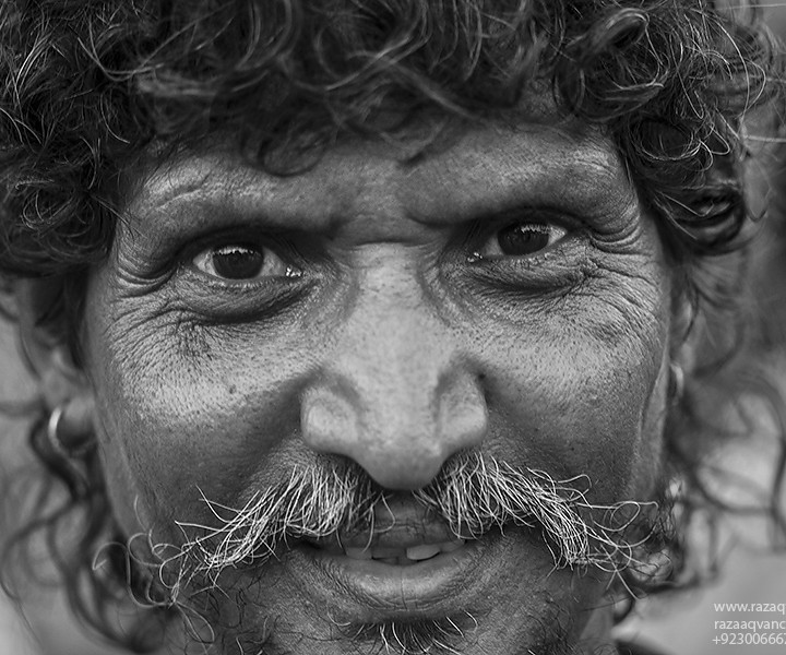 Portrait Photography and Mystic Face from a Shrine in Asia