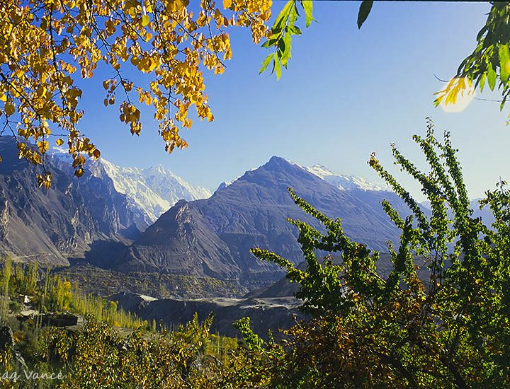 Colors of Autumn are Like Spring in Hunza Valley Pakistan
